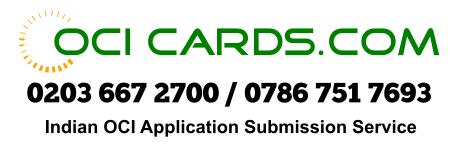 OCI Cards - Apply OCI Card - India OCI Application Agent