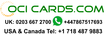 OCI Cards - India e Visa - OCI Application Agents UK USA